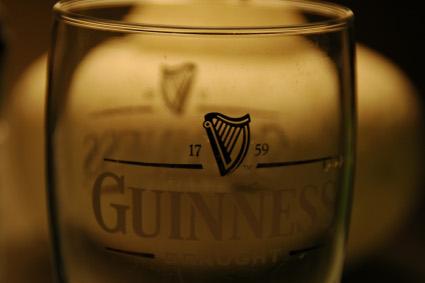 Pahar gol de Guinness